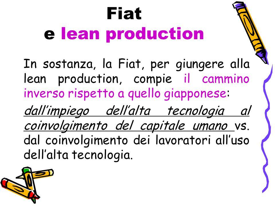 Fiat e lean production