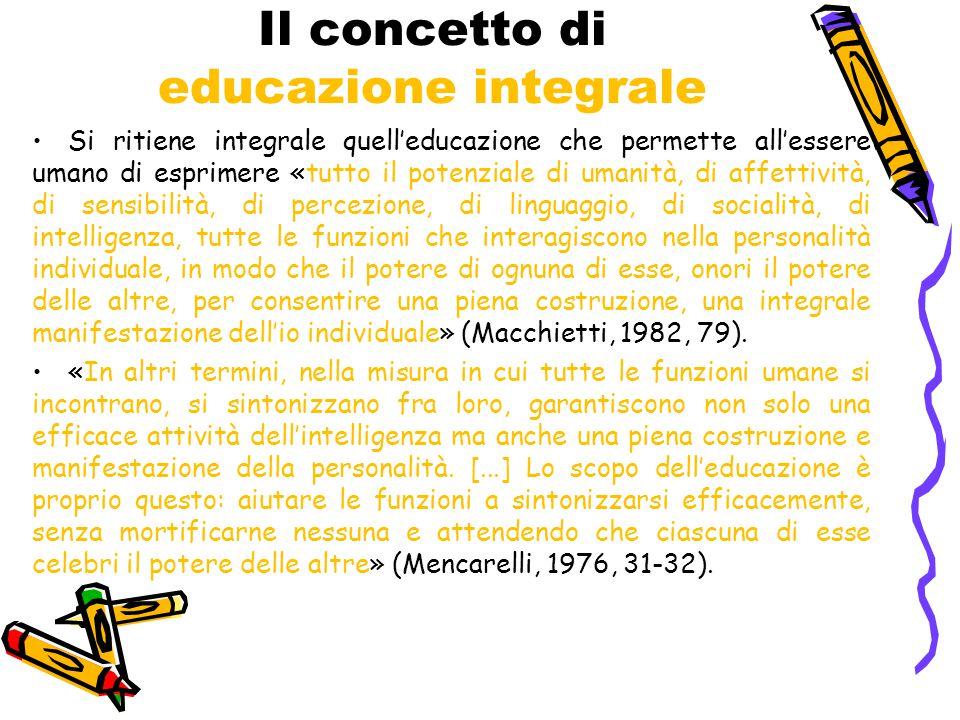 Il concetto di educazione integrale
