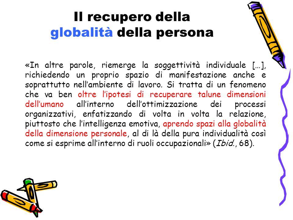 Il recupero della globalità della persona