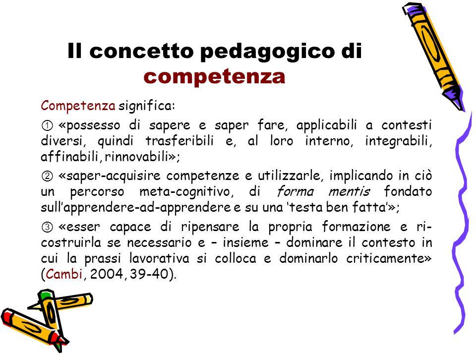 Il concetto pedagogico di competenza