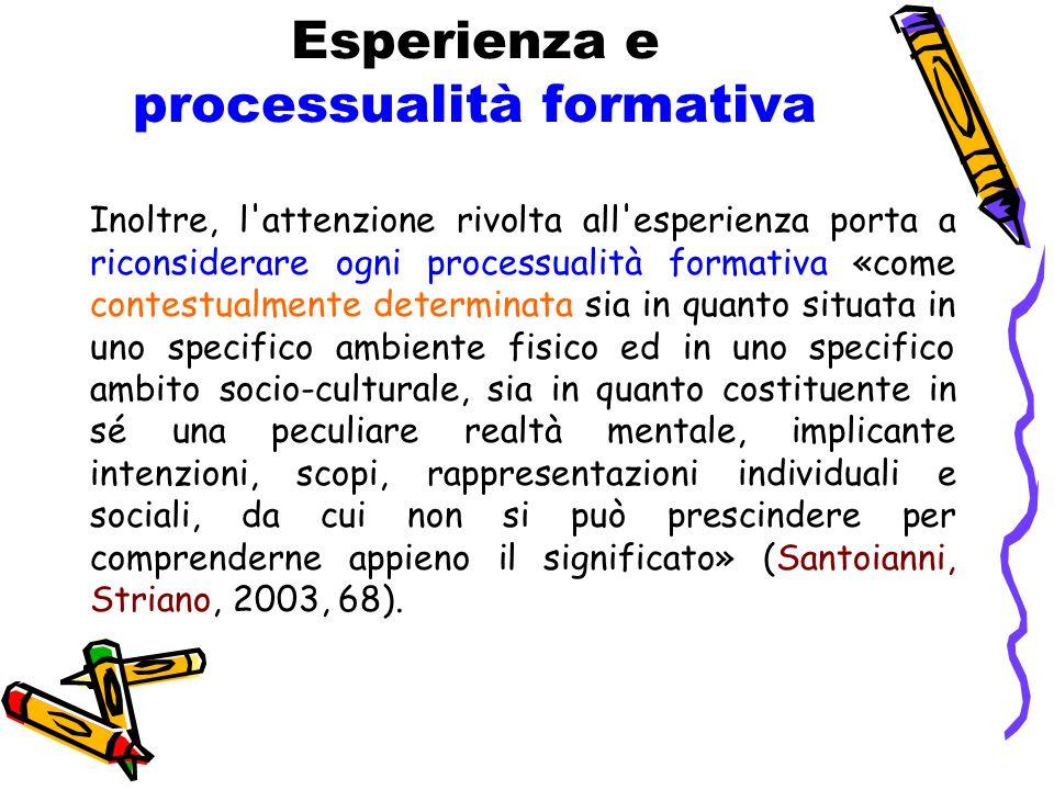 Esperienza e processualità formativa