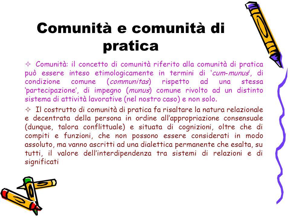 Comunità e comunità di pratica