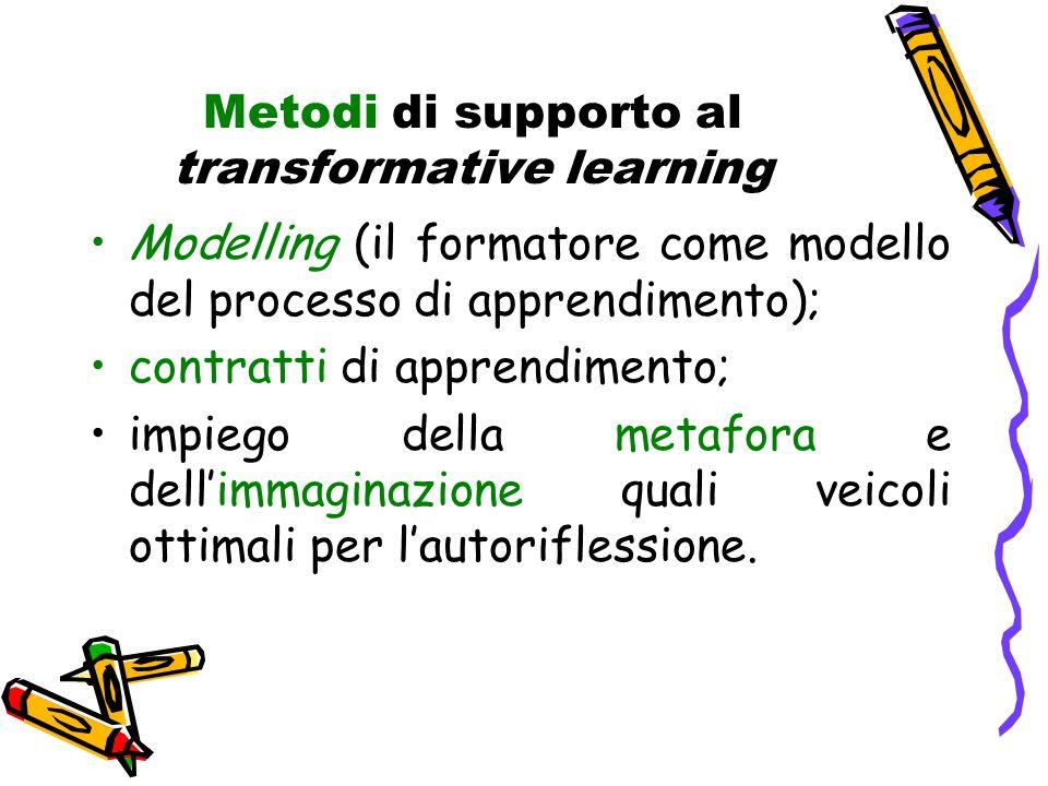 Metodi di supporto al transformative learning
