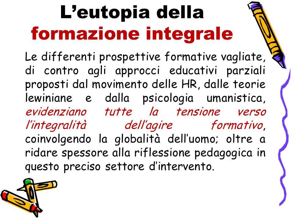 L'eutopia della formazione integrale