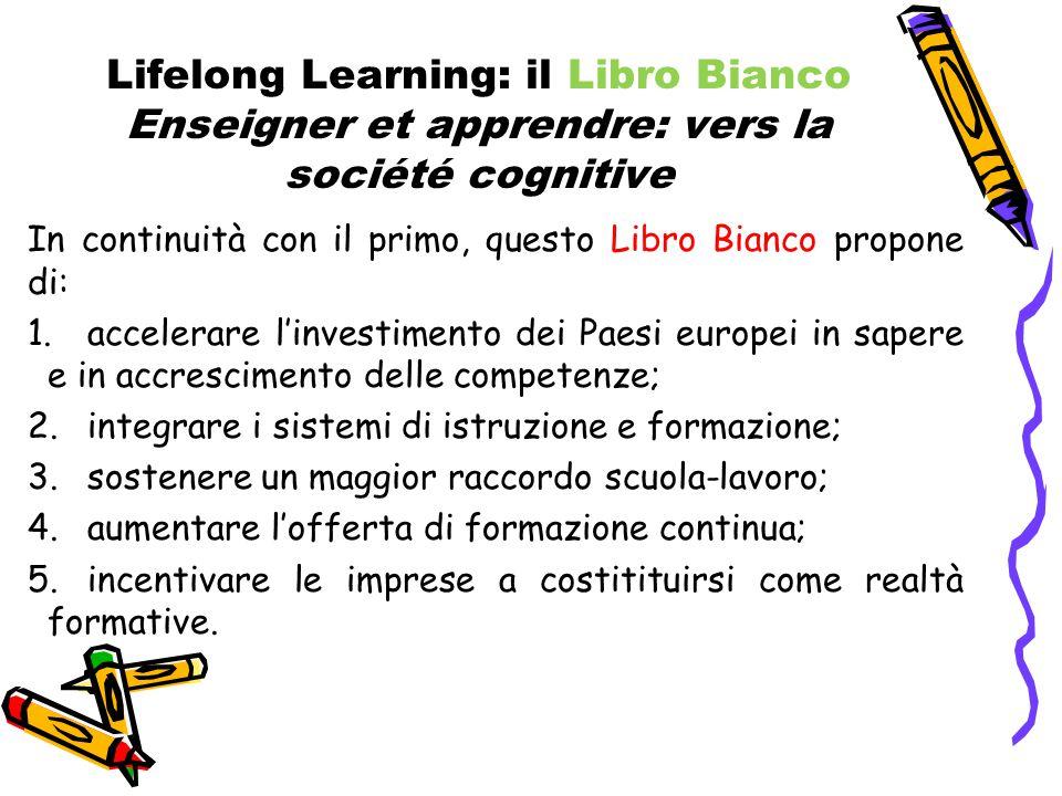 Lifelong Learning: il Libro Bianco Enseigner et apprendre: vers la société cognitive