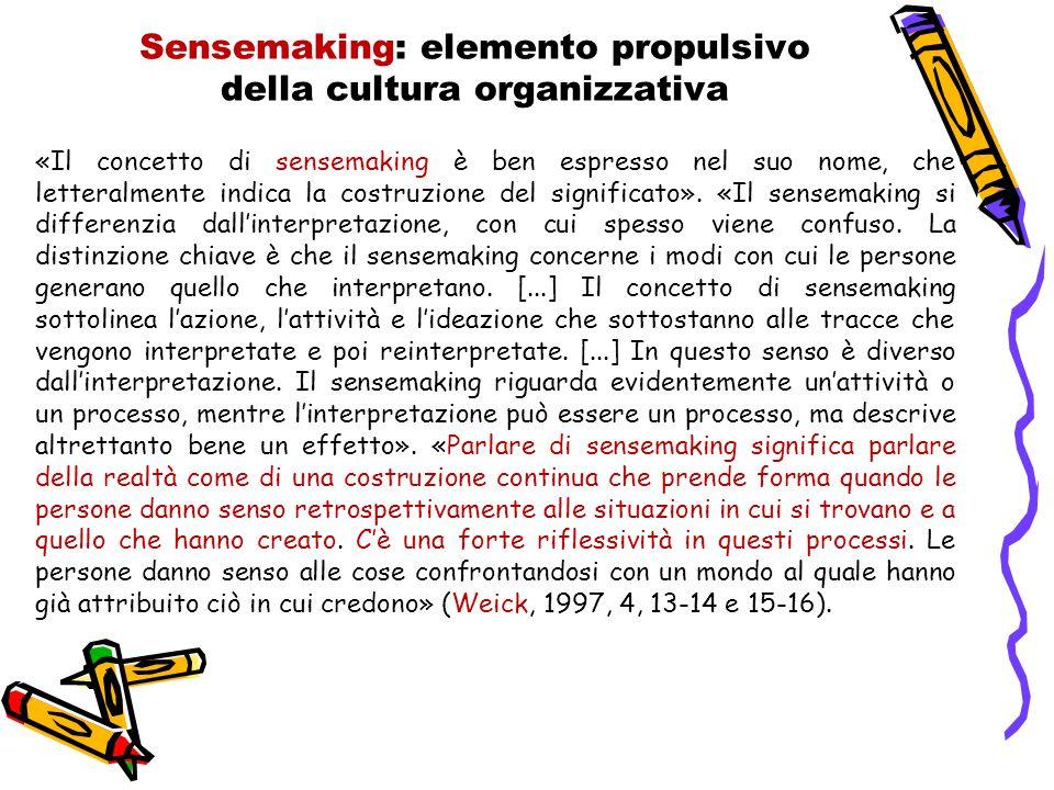 Sensemaking: elemento propulsivo della cultura organizzativa
