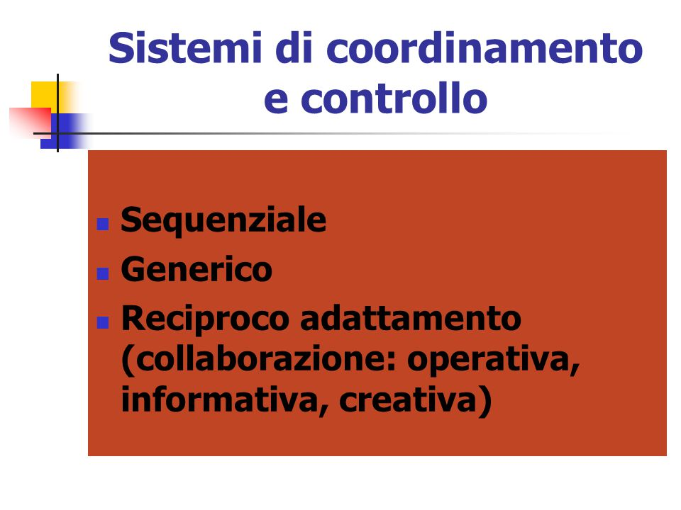 Sistemi di coordinamento e controllo