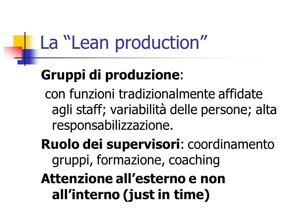 La Lean production
