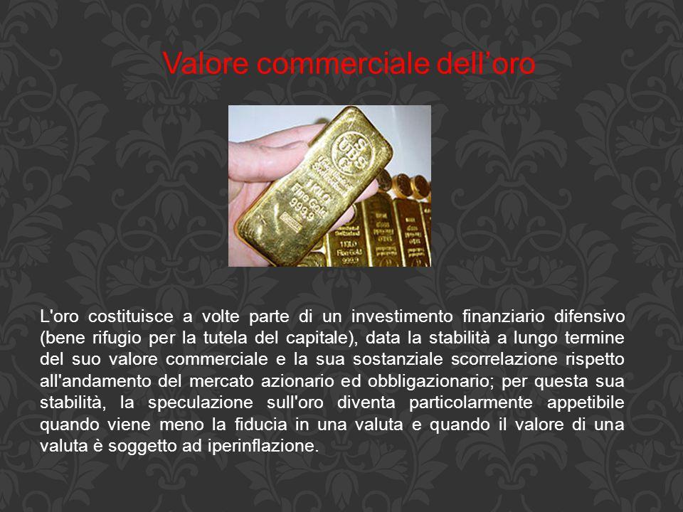 Valore commerciale dell'oro
