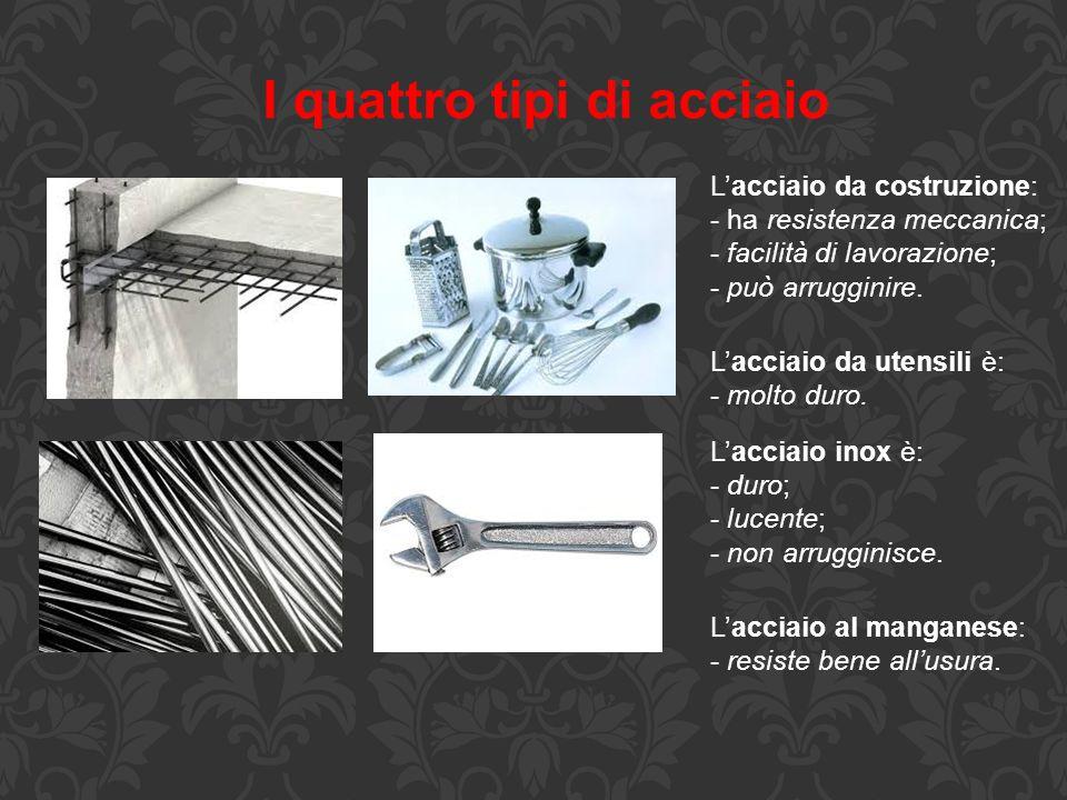 I quattro tipi di acciaio