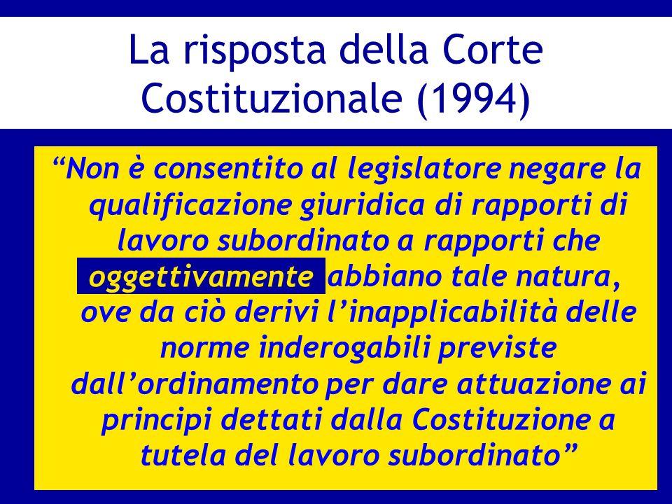La risposta della Corte Costituzionale (1994)