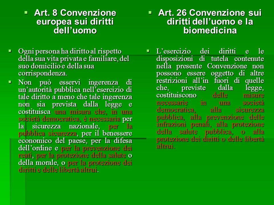 Art. 8 Convenzione europea sui diritti dell'uomo