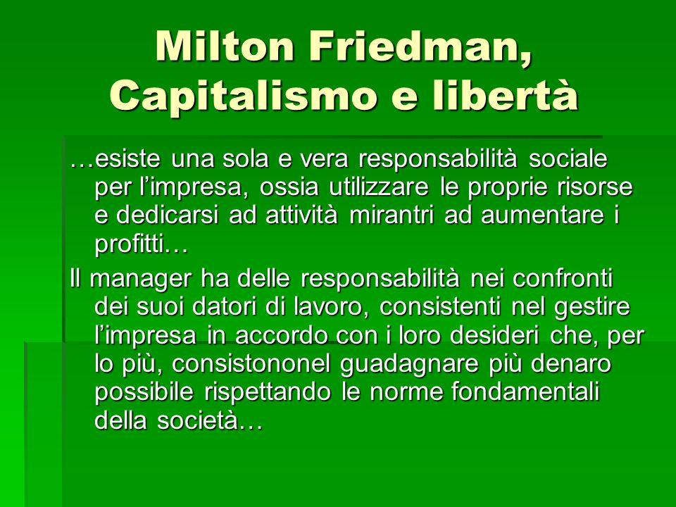 Milton Friedman, Capitalismo e libertà