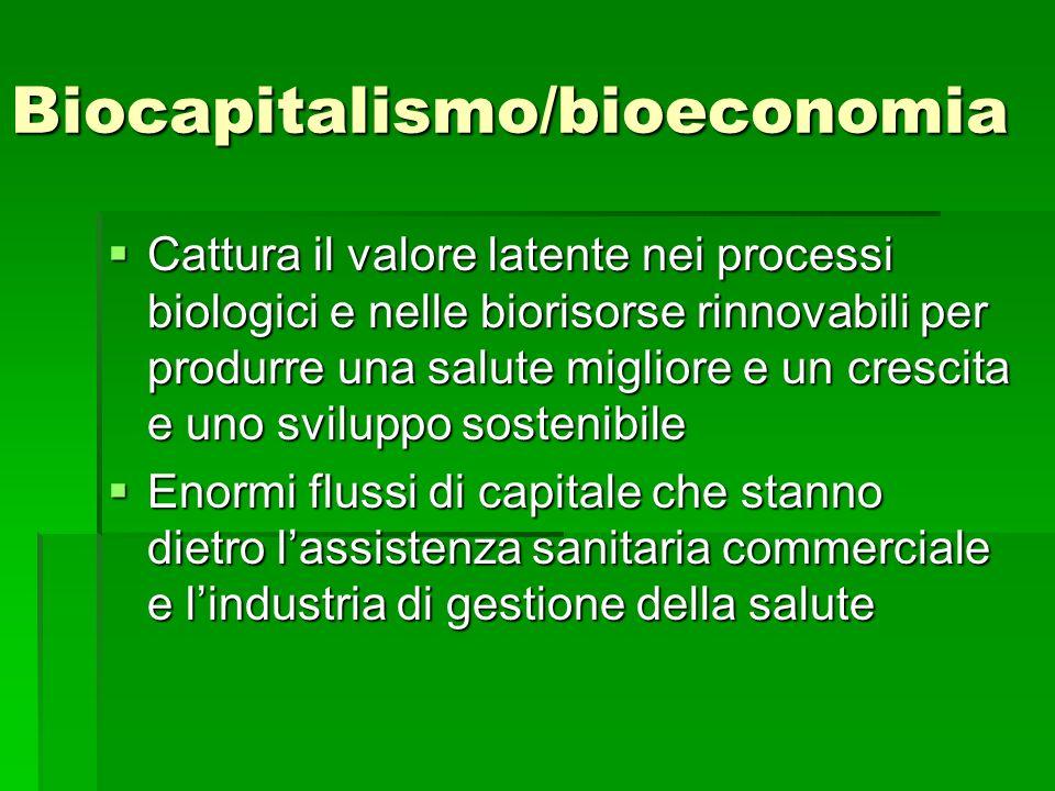 Biocapitalismo/bioeconomia