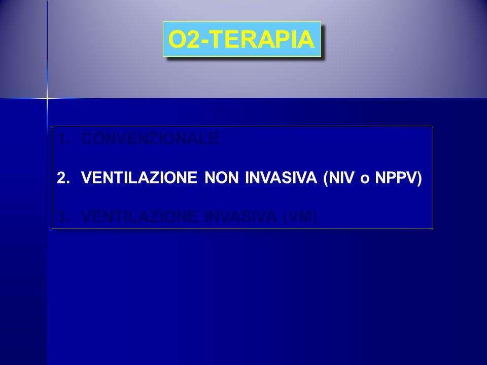 O2-TERAPIA CONVENZIONALE VENTILAZIONE NON INVASIVA (NIV o NPPV)
