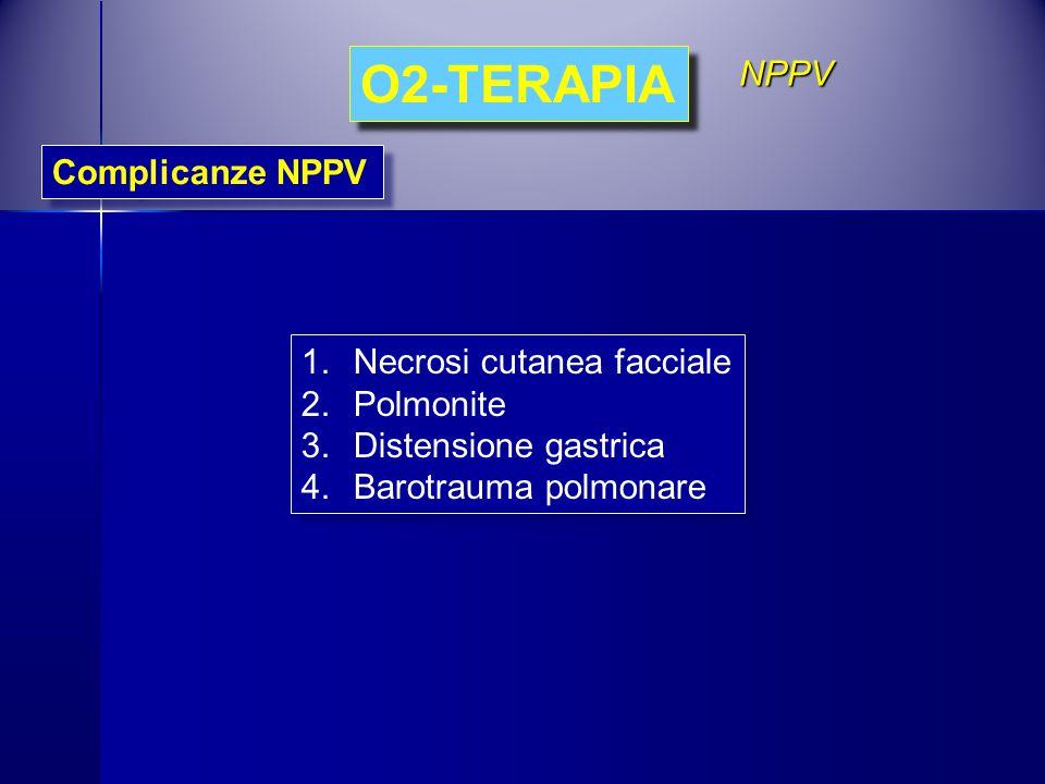 O2-TERAPIA NPPV Complicanze NPPV Necrosi cutanea facciale Polmonite