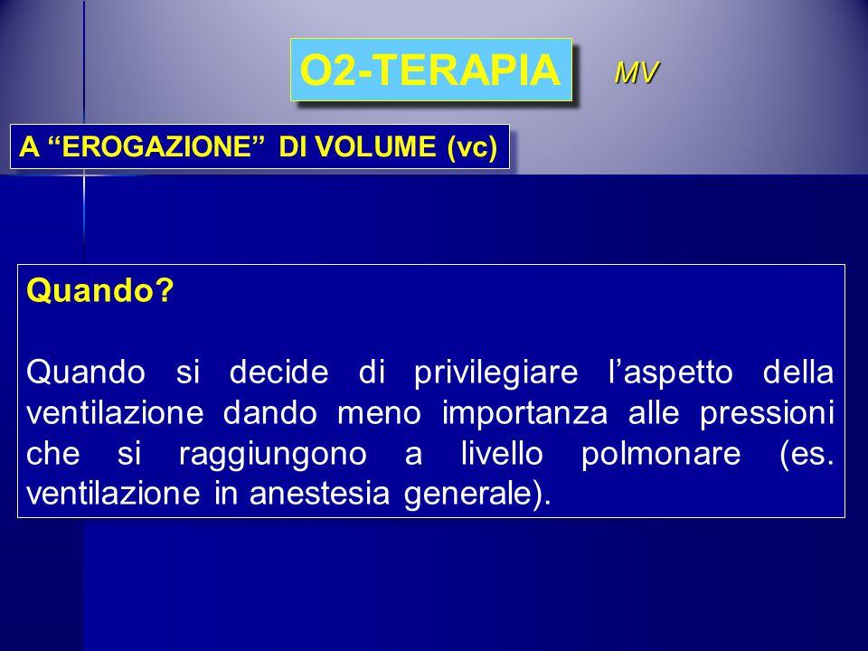 O2-TERAPIA MV. A EROGAZIONE DI VOLUME (vc) Quando