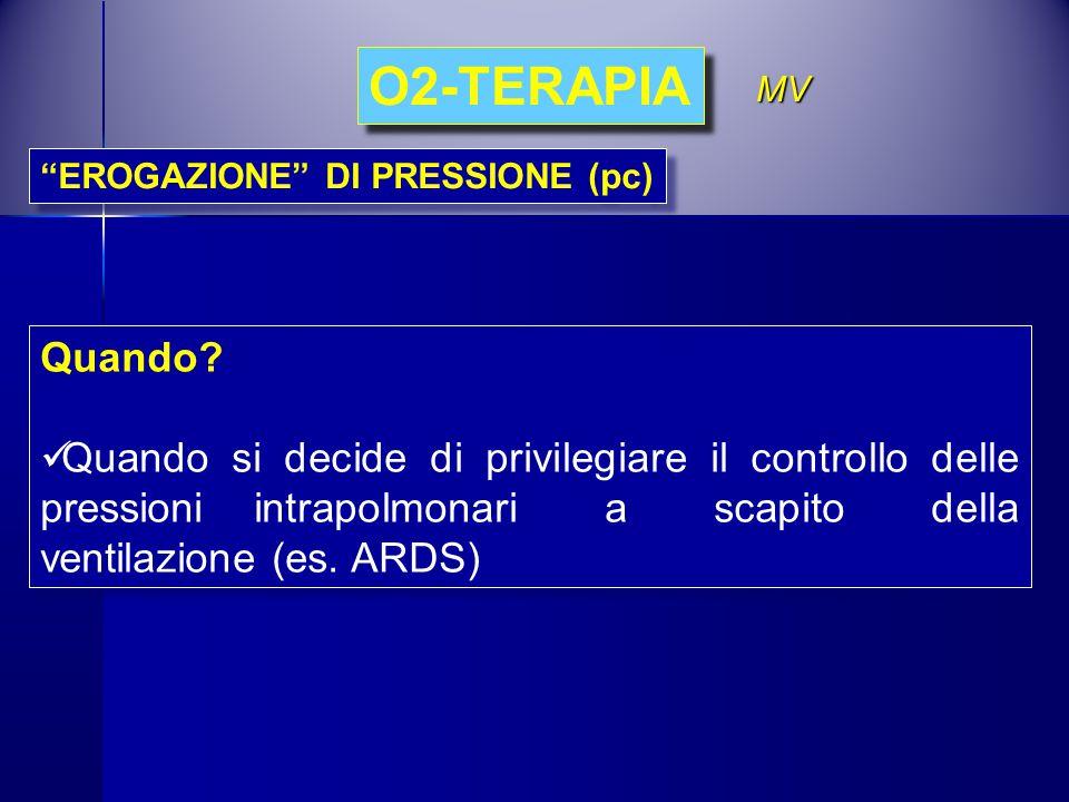 O2-TERAPIA MV. EROGAZIONE DI PRESSIONE (pc) Quando