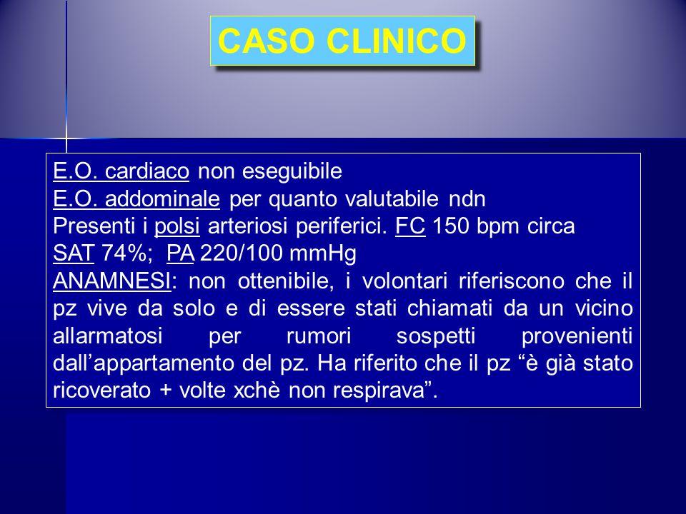 CASO CLINICO E.O. cardiaco non eseguibile