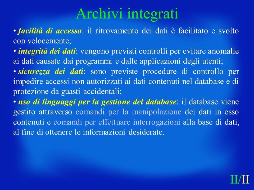 Archivi integrati II/II