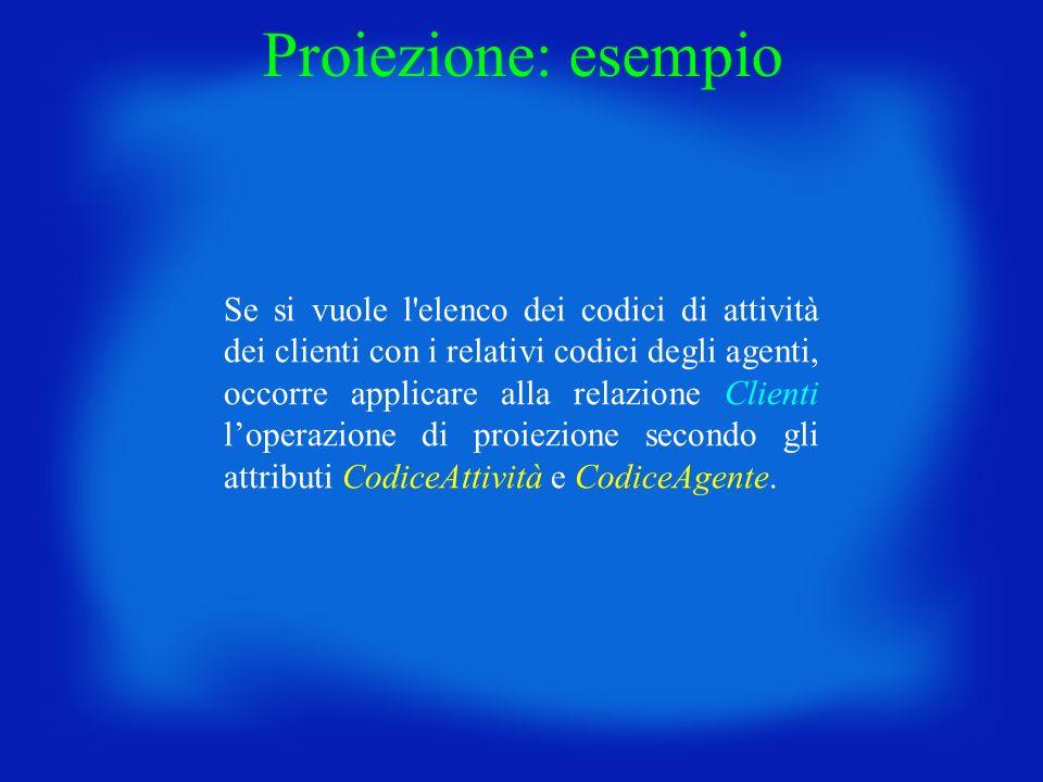 Proiezione: esempio