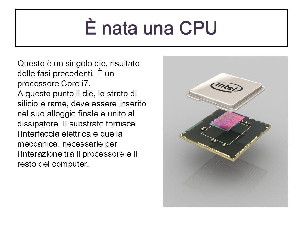 È nata una CPU Questo è un singolo die, risultato delle fasi precedenti. È un processore Core i7.