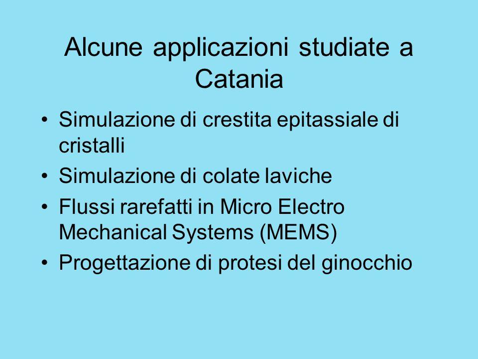 Alcune applicazioni studiate a Catania