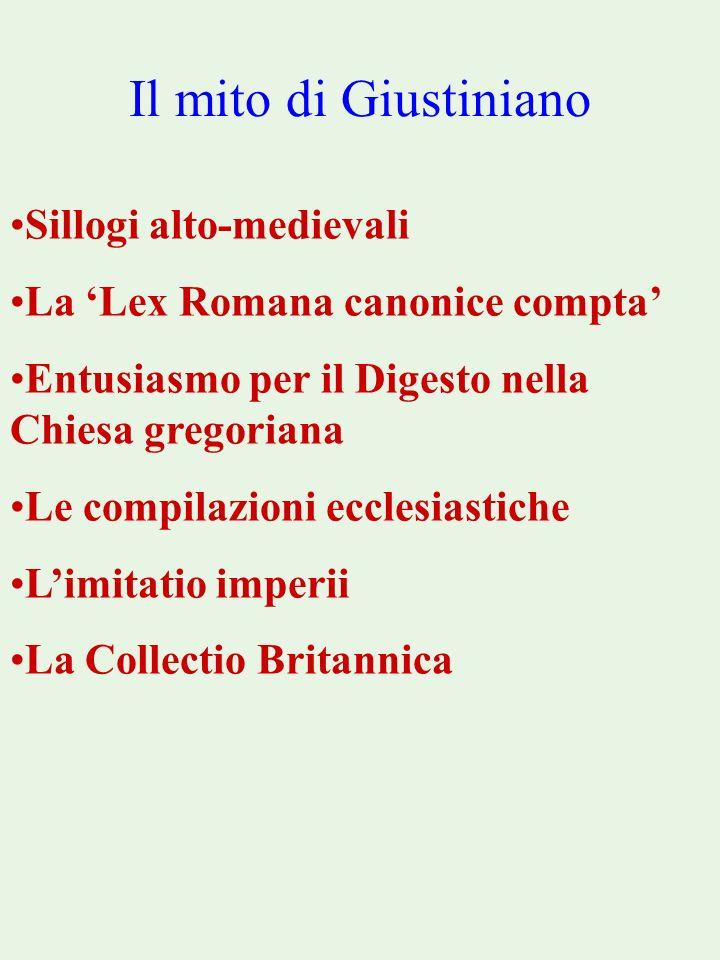 Il mito di Giustiniano Sillogi alto-medievali