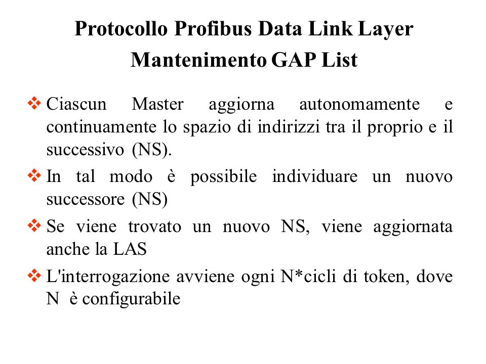 Protocollo Profibus Data Link Layer