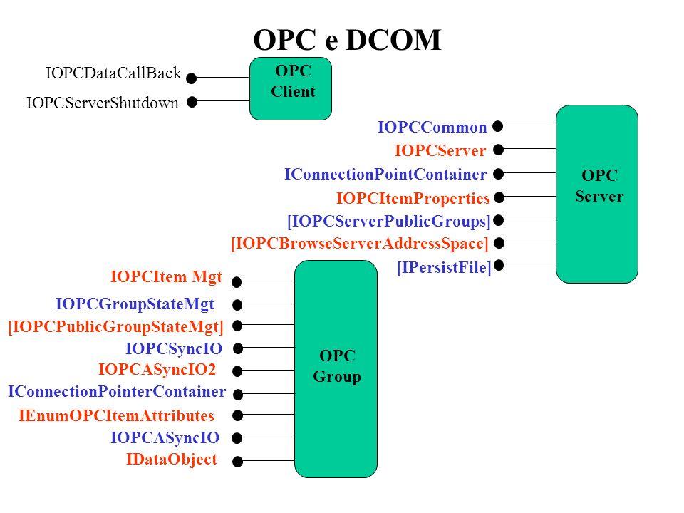 OPC e DCOM IOPCDataCallBack OPC Client IOPCServerShutdown IOPCCommon