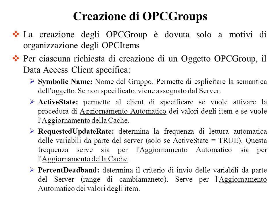Creazione di OPCGroups