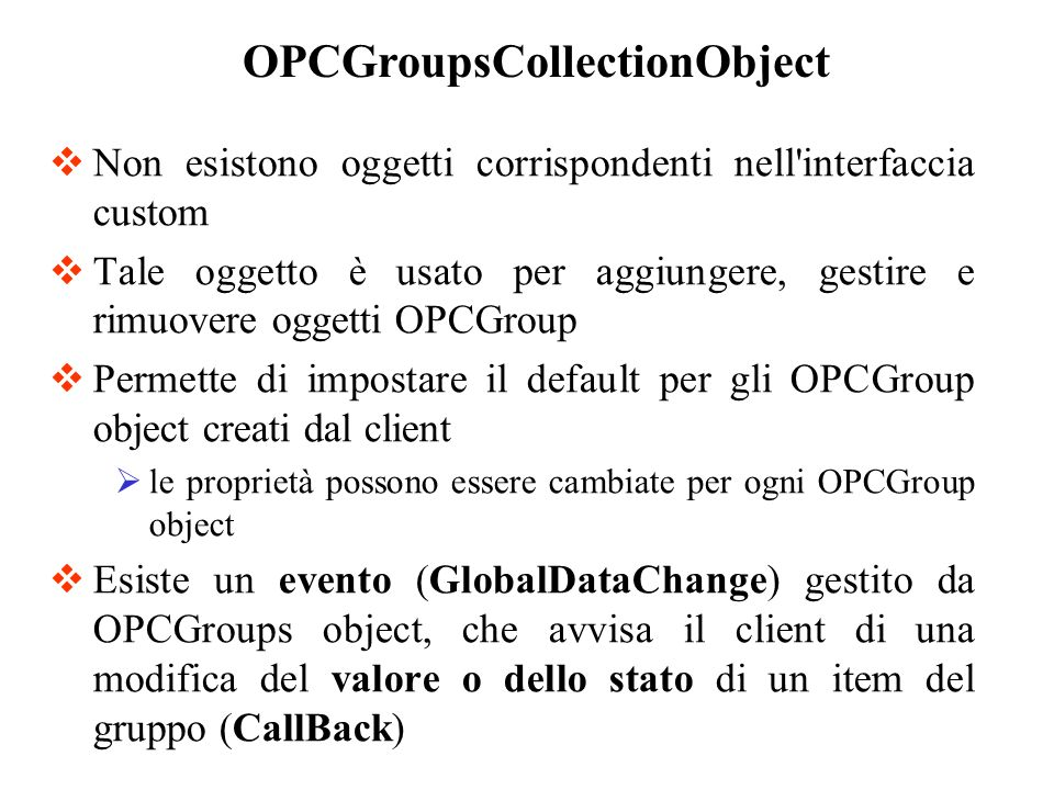 OPCGroupsCollectionObject