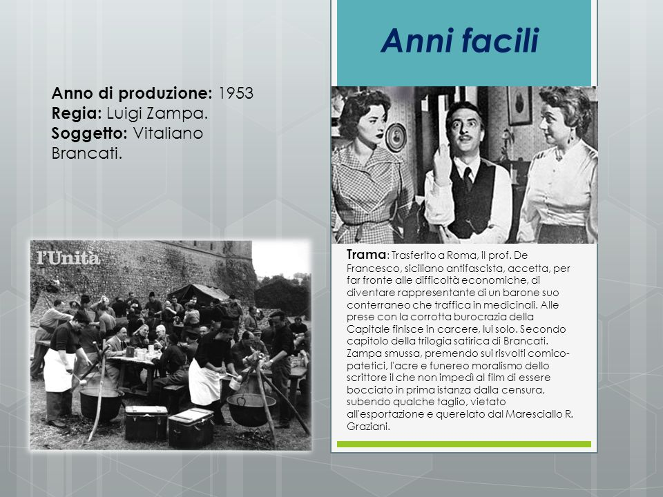 Anni facili Anno di produzione: 1953 Regia: Luigi Zampa.
