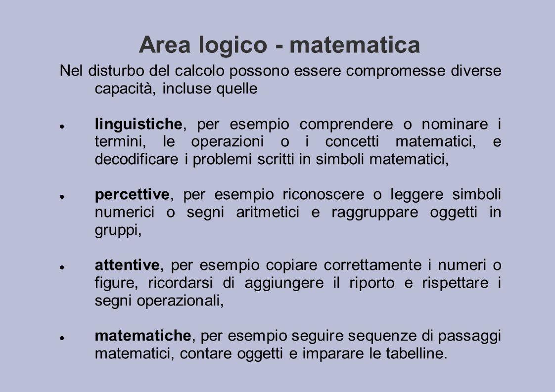 Area logico - matematica