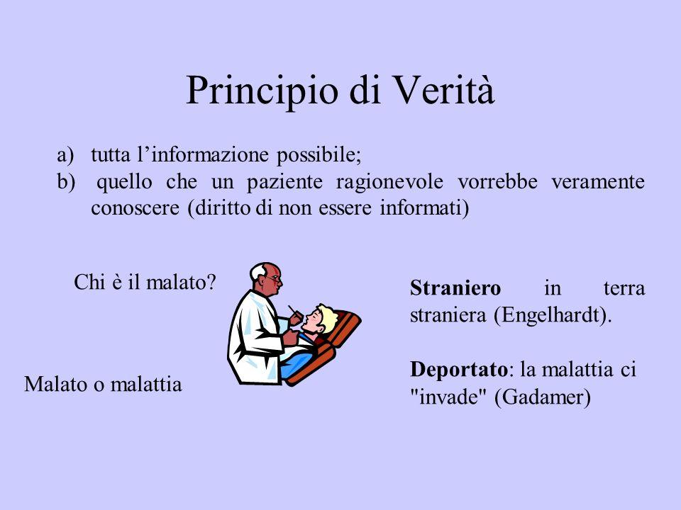 Principio di Verità tutta l'informazione possibile;