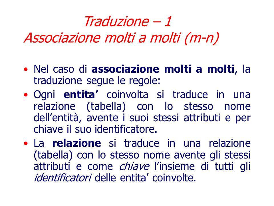 Traduzione – 1 Associazione molti a molti (m-n)