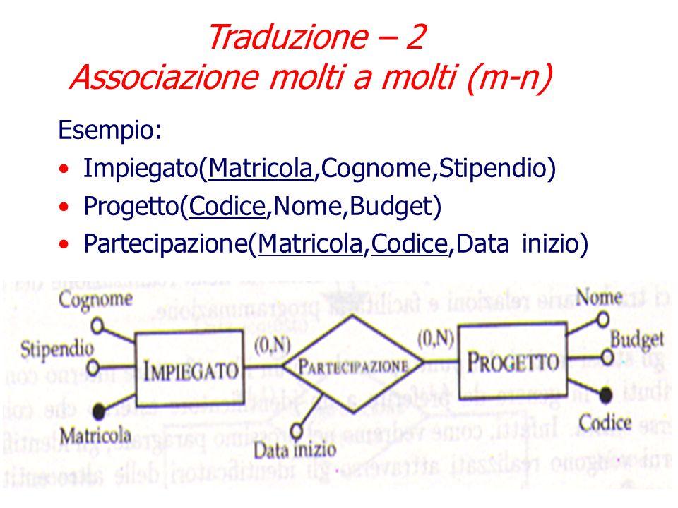 Traduzione – 2 Associazione molti a molti (m-n)