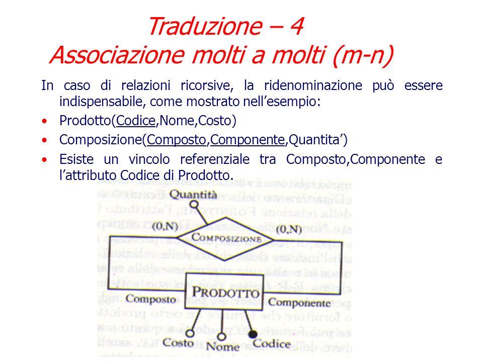 Traduzione – 4 Associazione molti a molti (m-n)