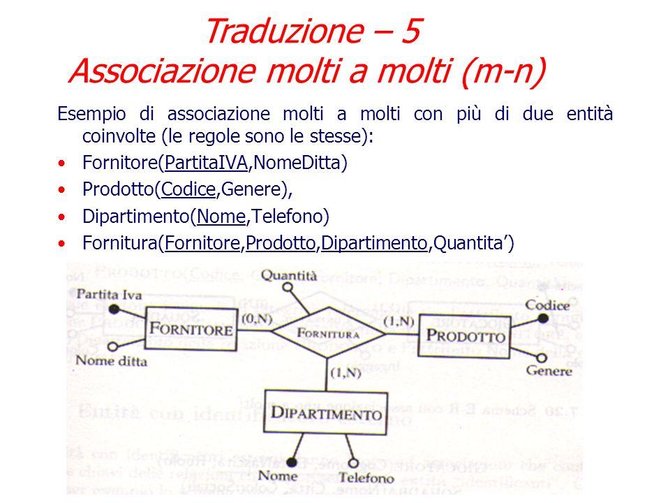 Traduzione – 5 Associazione molti a molti (m-n)