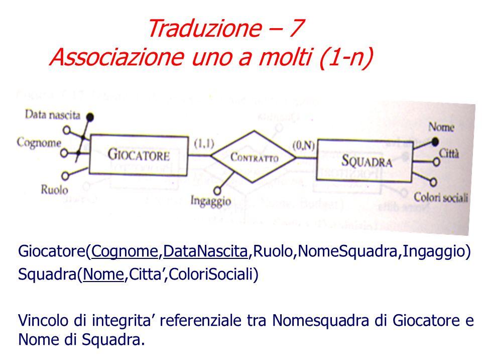 Traduzione – 7 Associazione uno a molti (1-n)