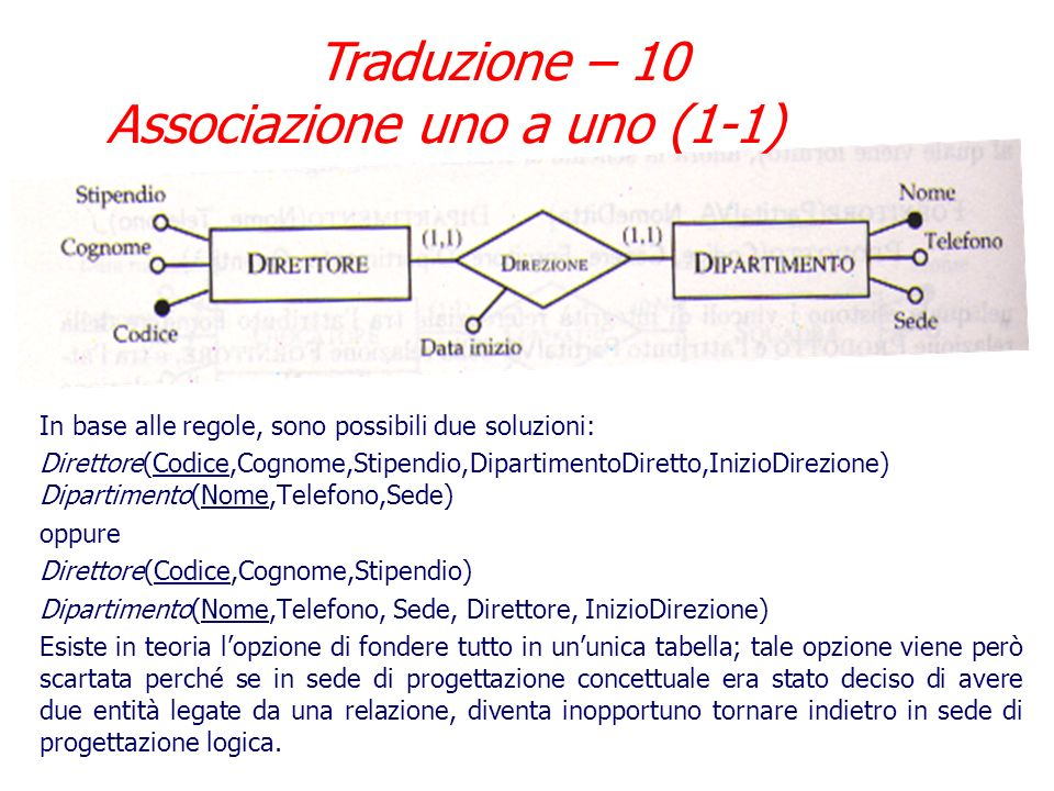 Traduzione – 10 Associazione uno a uno (1-1)