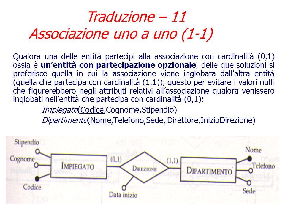 Traduzione – 11 Associazione uno a uno (1-1)