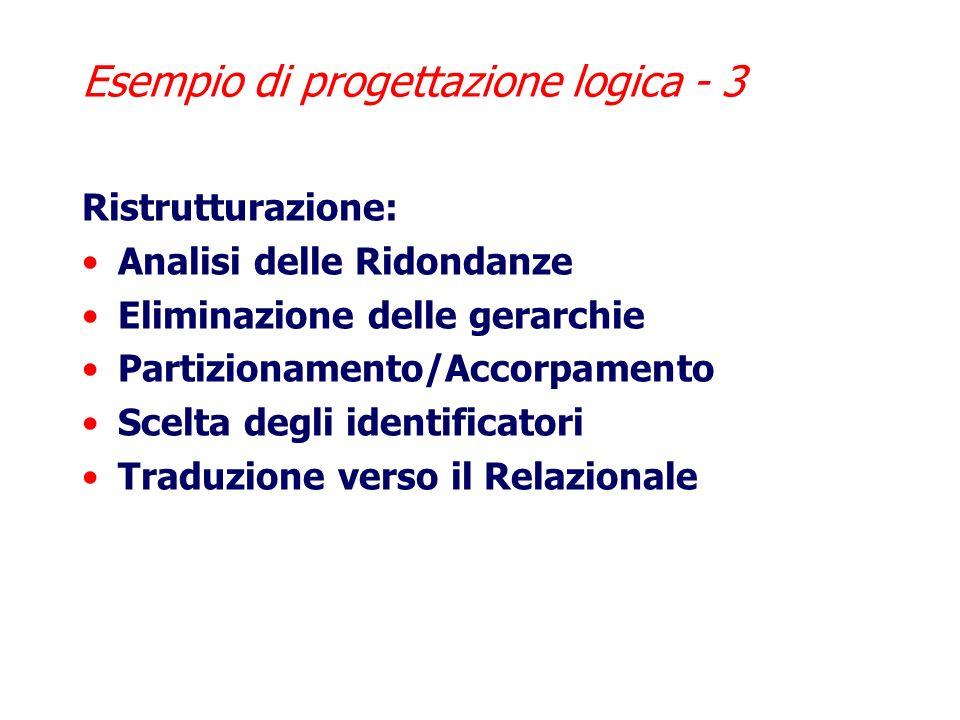 Esempio di progettazione logica - 3