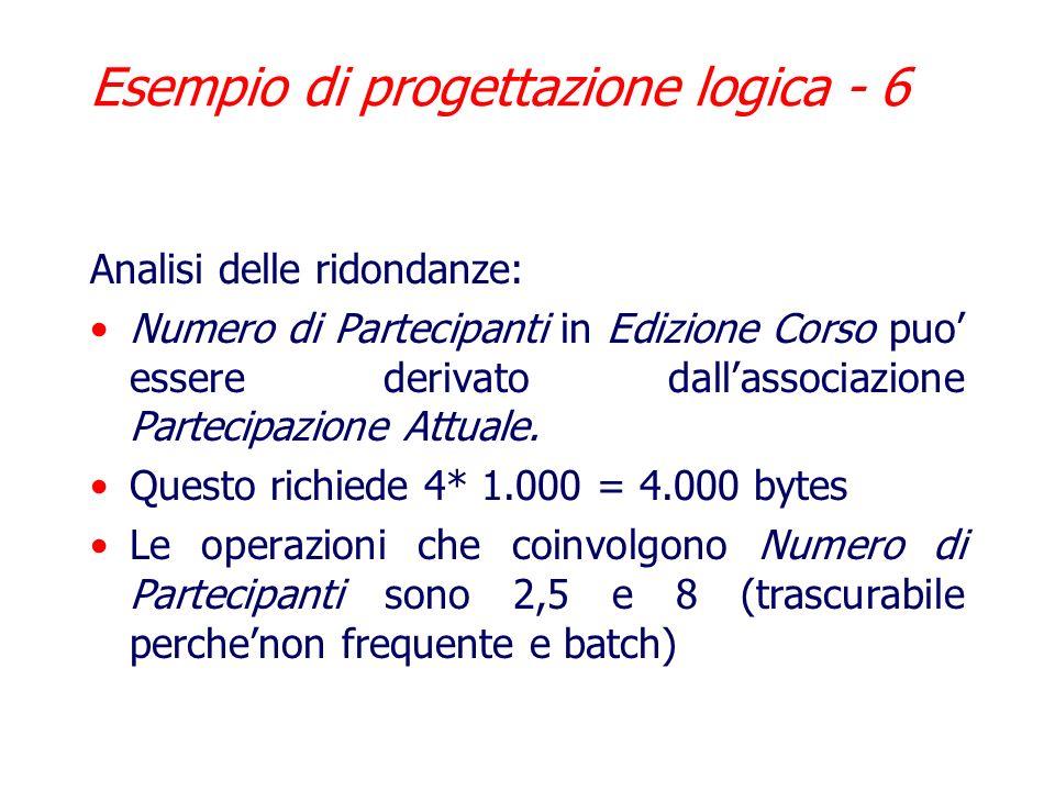 Esempio di progettazione logica - 6