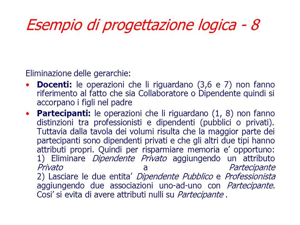 Esempio di progettazione logica - 8