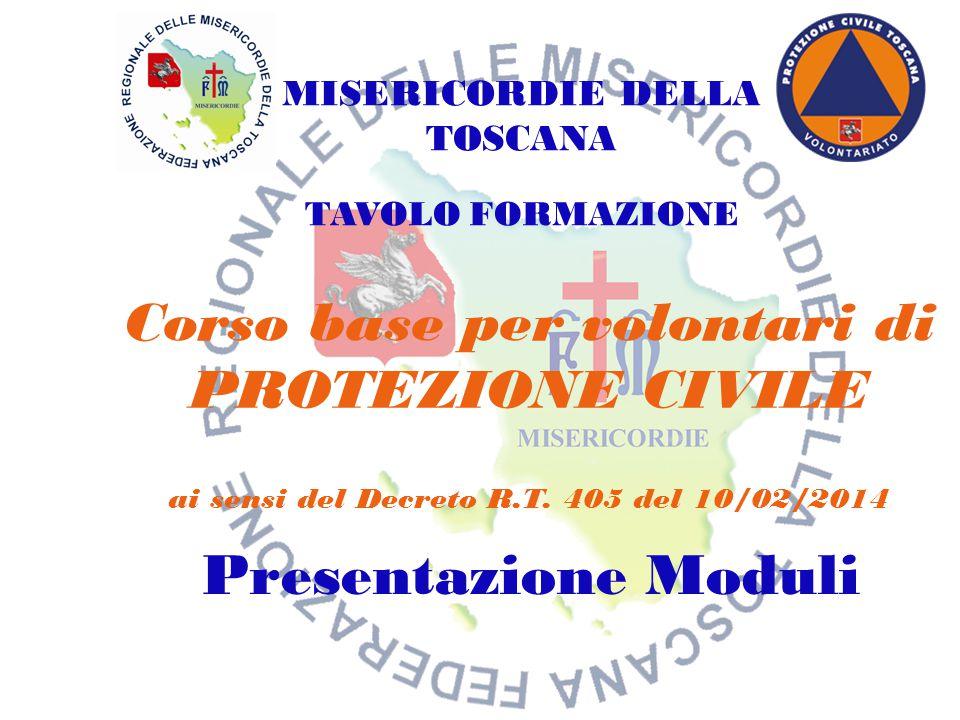 Corso aspiranti volontari protezione civile Misericordia San Miniato