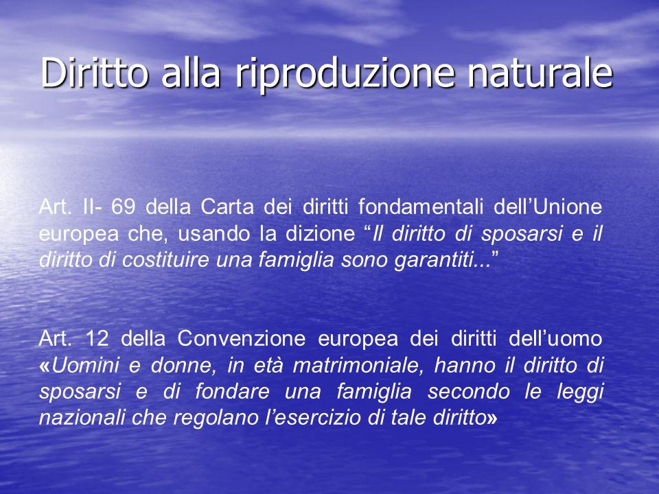 Diritto alla riproduzione naturale