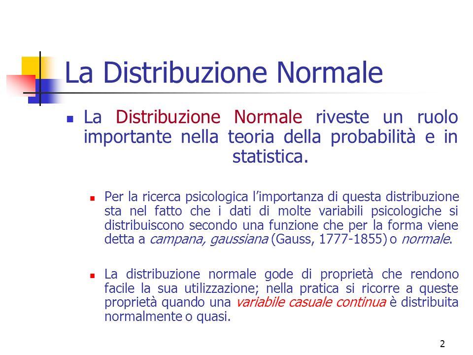 La Distribuzione Normale