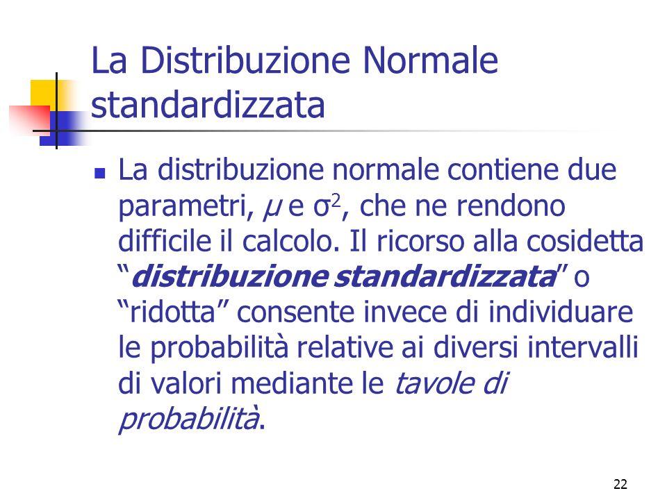La distribuzione normale ppt scaricare - Tavole di distribuzione normale ...