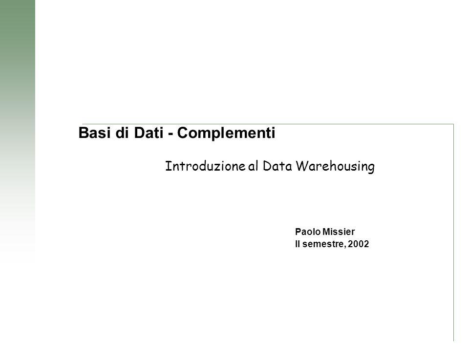 Basi di Dati - Complementi